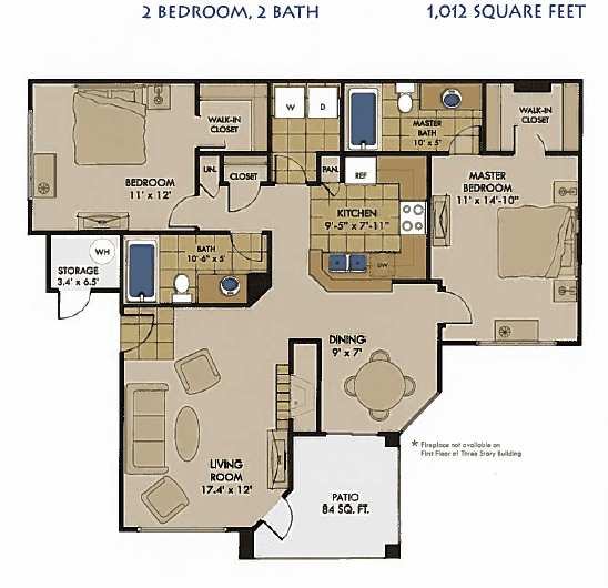 Portofino_Floor Plan_2 Bedroom