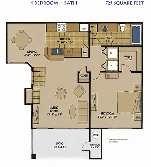 Portofino_Floor Plan_One_bedroom