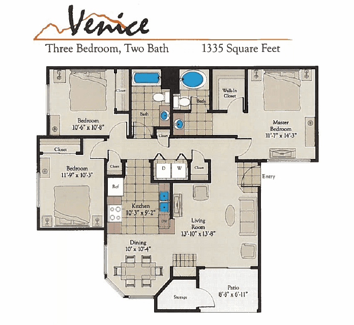 Bella Terra Venice Floor Plan